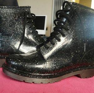 CIRCUS SAM EDELMAN Quinn Glitter Boots Size 9